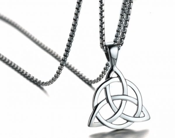 keltischer Knoten Anhänger 34mm Edelstahl inklusive 60cm Edelstahl Halskette