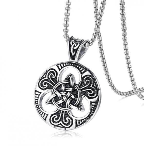 keltischer Knoten Kreuz Anhänger 37x50mm Edelstahl inklusive 60cm Edelstahl Halskette