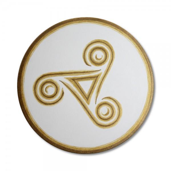 "Leinwandbild keltische Triskele ""Trinity"" - handgemalt 50 cm"
